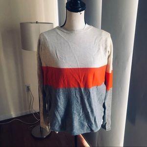 Smart wool nwot tags color block merino sweater